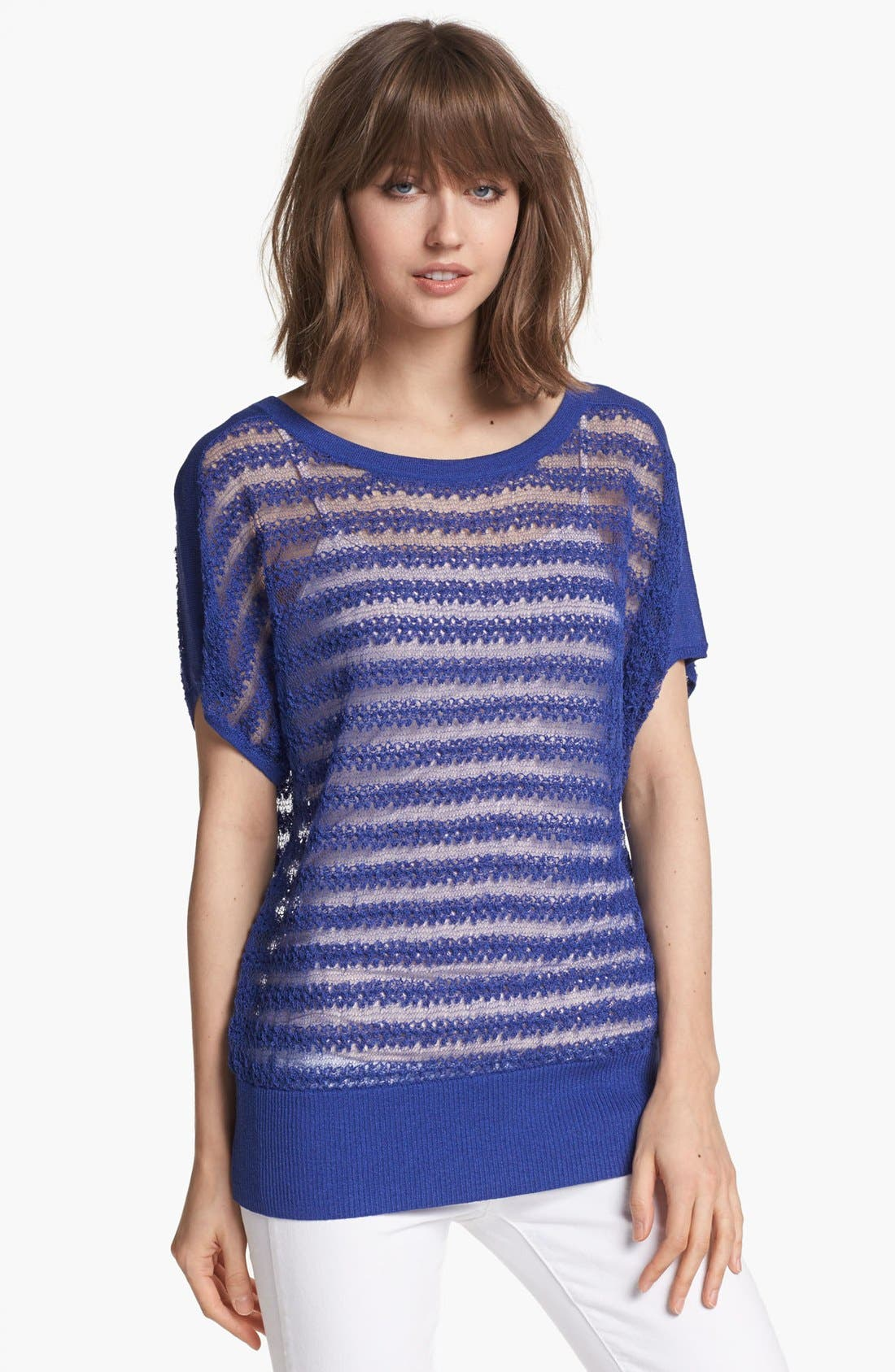 Alternate Image 1 Selected - Hinge® Sheer Stitch Sweater