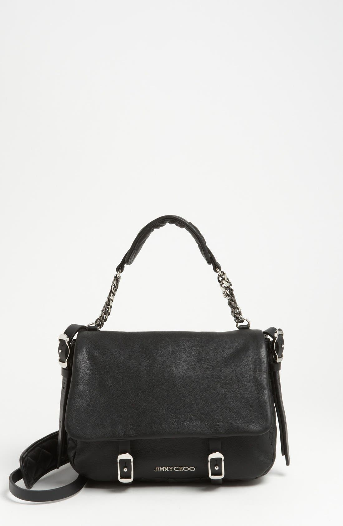 Alternate Image 1 Selected - Jimmy Choo 'Becka Biker - Small' Leather Crossbody Bag
