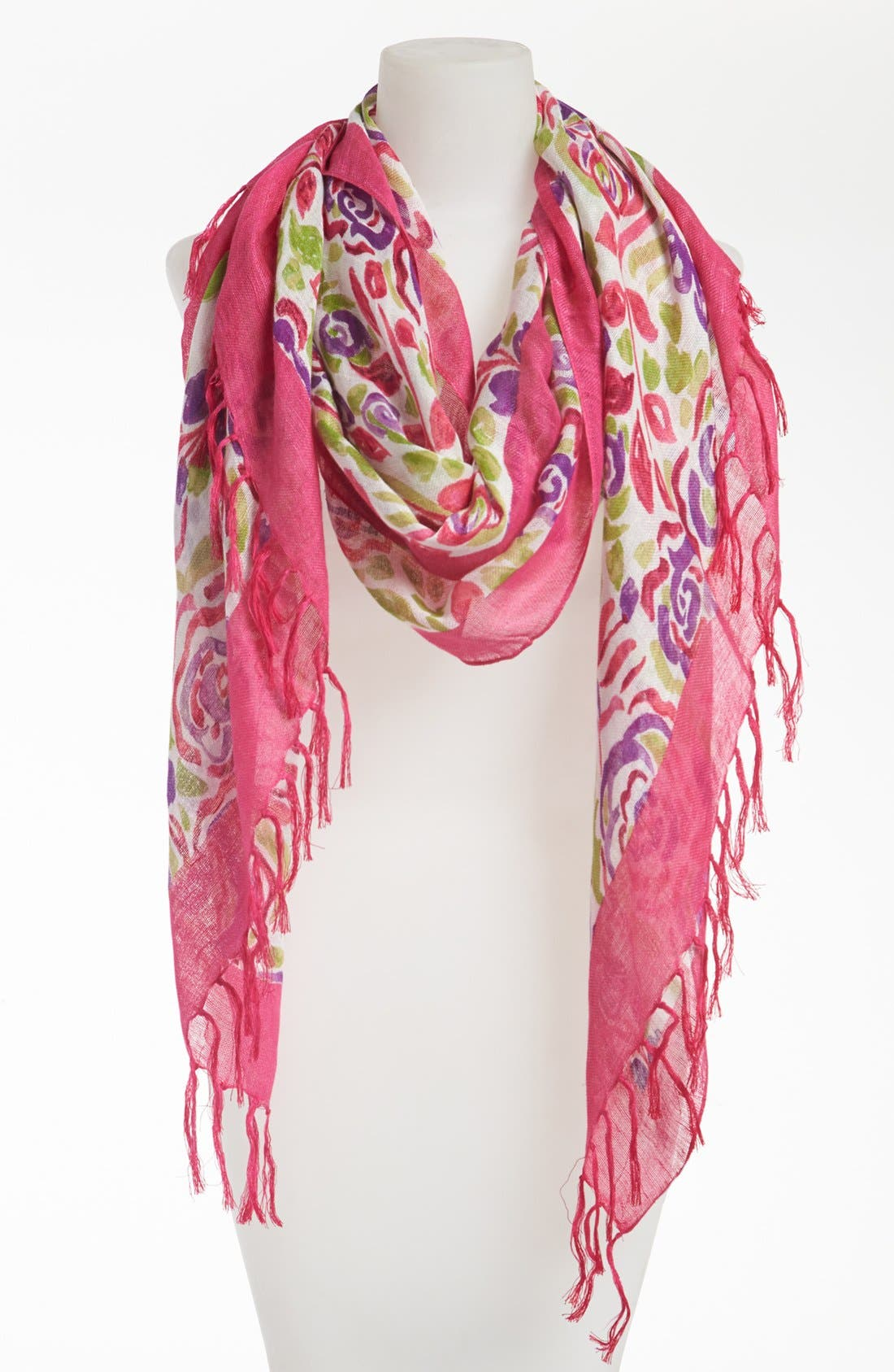 Main Image - Nordstrom 'Bold & Bright' Linen Blend Scarf