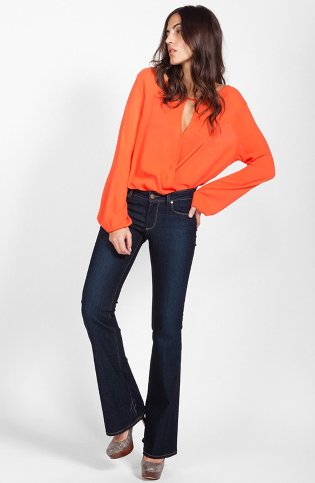 Main Image - Ella Moss Top & Paige Jeans