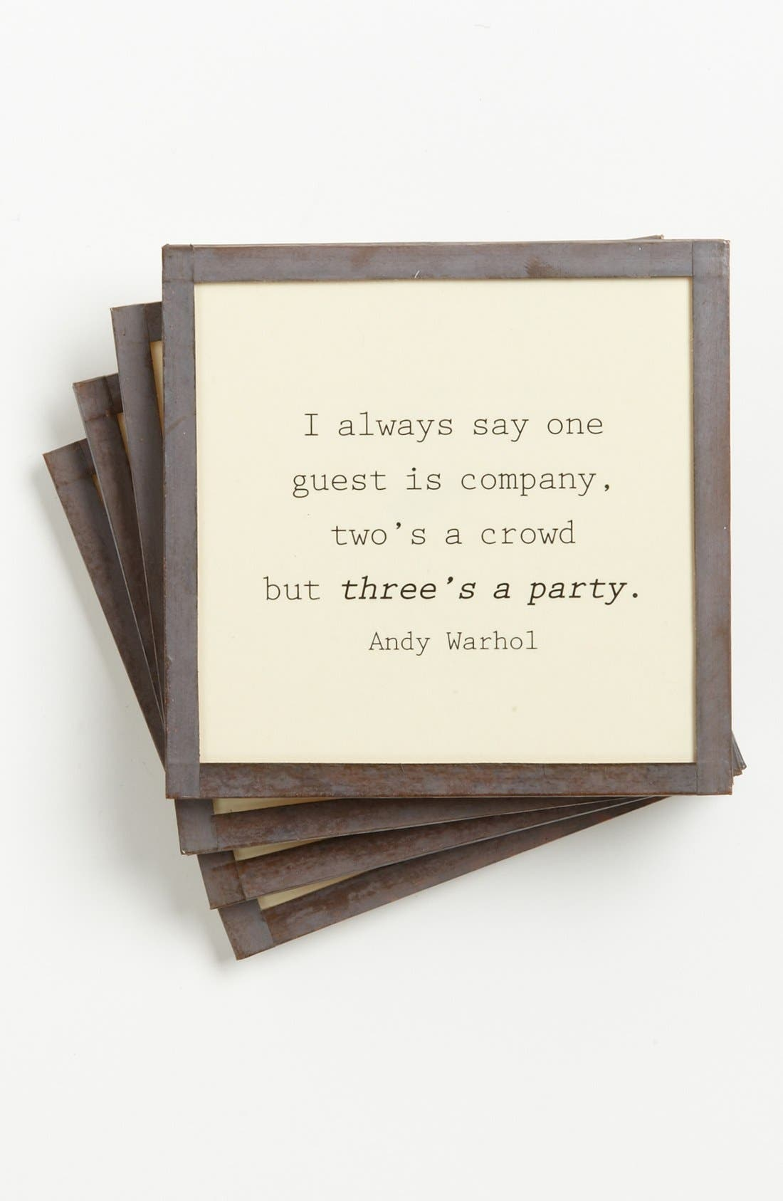 Alternate Image 1 Selected - Ben's Garden 'I Always Say One' Coasters (Set of 4)