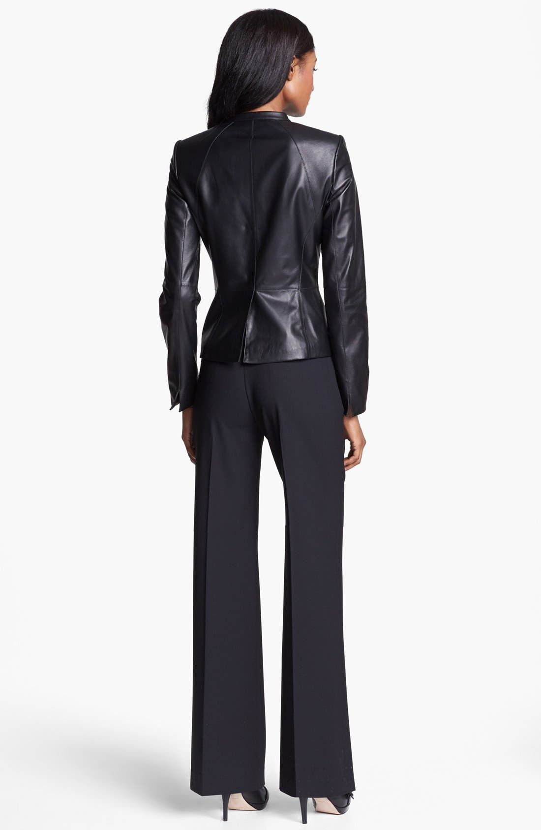 Alternate Image 4  - Lafayette 148 New York 'Velvet' Lambskin Leather Jacket