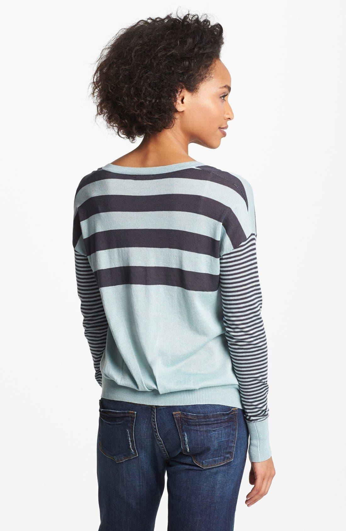 Alternate Image 2  - Halogen® Drop Shoulder V-Neck Sweater