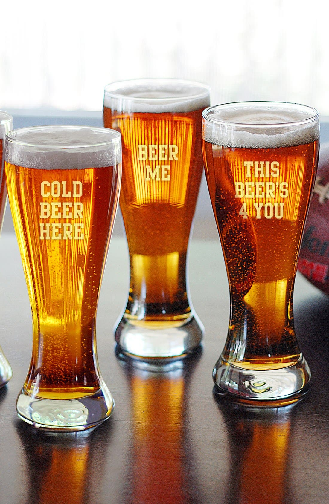 Alternate Image 1 Selected - Cathy's Concepts Handblown Beer Glasses (Set of 4)