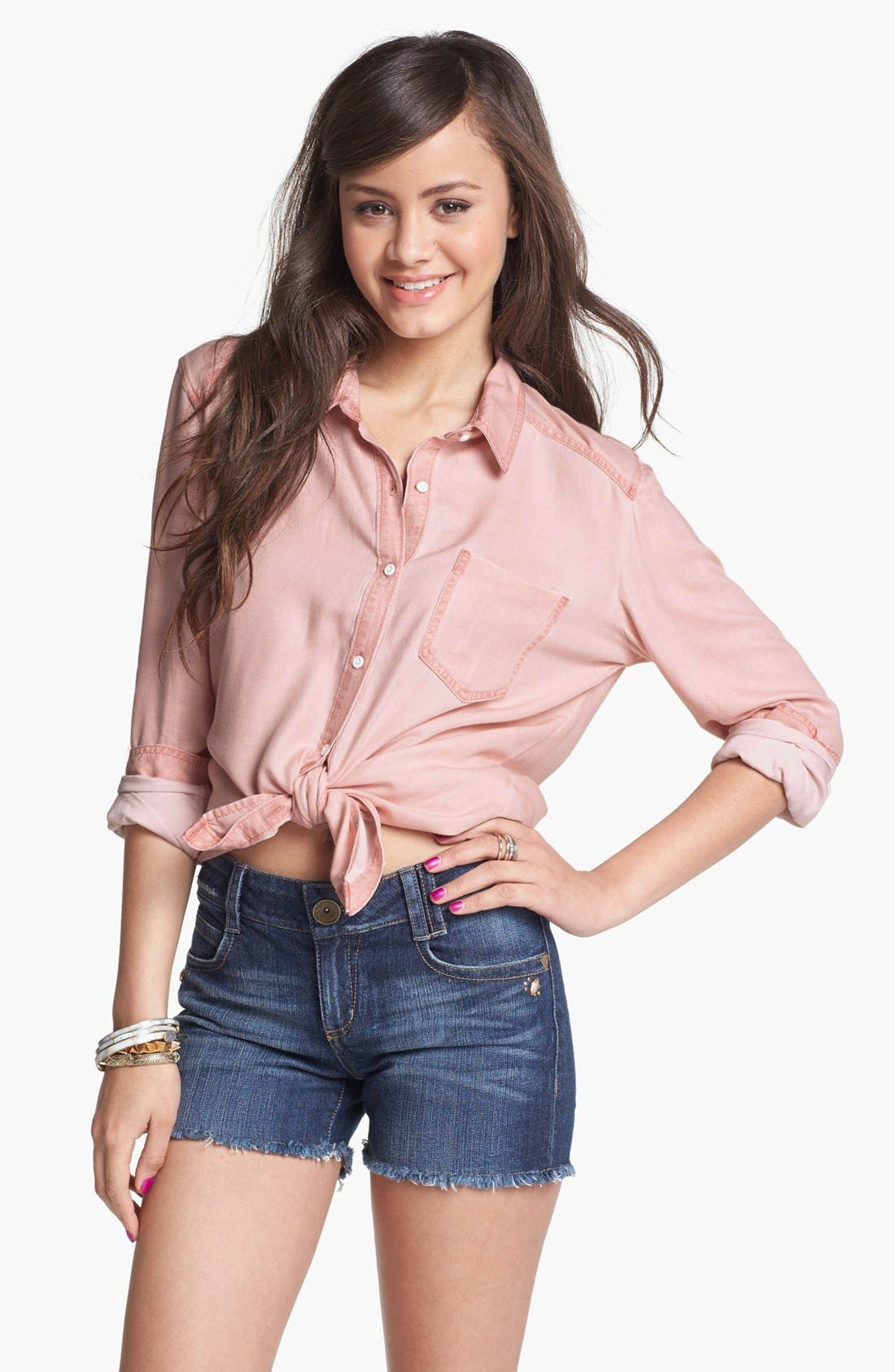 Main Image - Rubbish Oversized Menswear Shirt (Juniors)