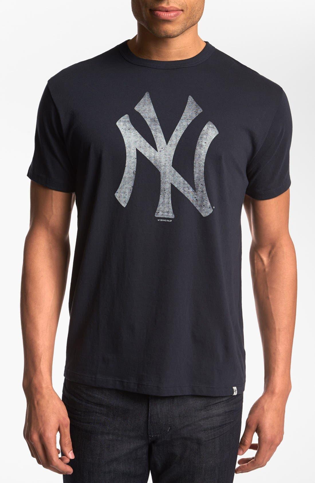 Alternate Image 1 Selected - 47 Brand 'New York Yankees - Flanker' T-Shirt