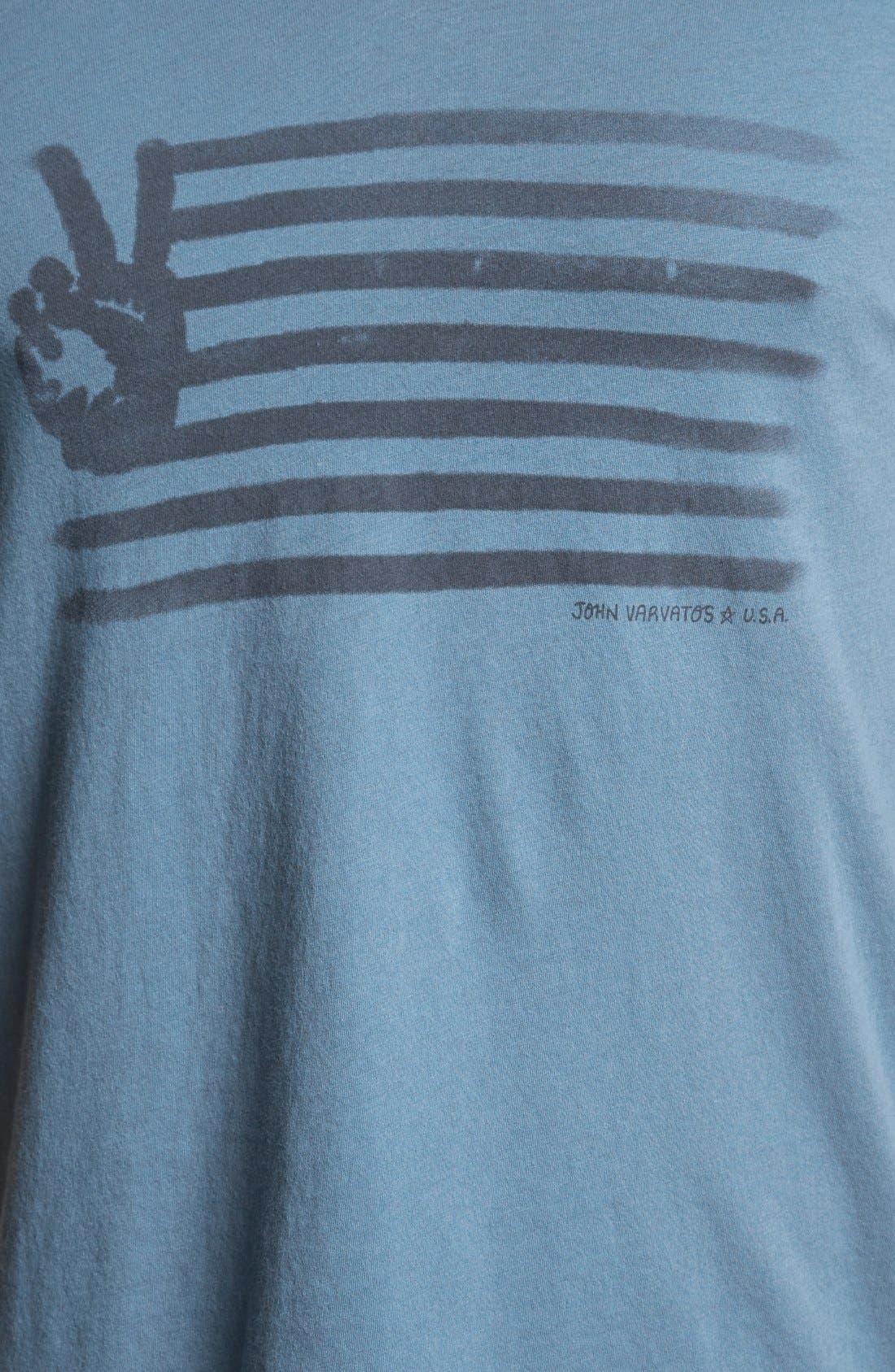 Alternate Image 3  - John Varvatos Star USA 'Painted Peace Sign' T-Shirt