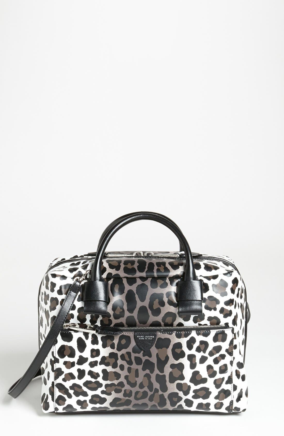Main Image - MARC JACOBS 'Small Antonia - Leopard' Leather Satchel