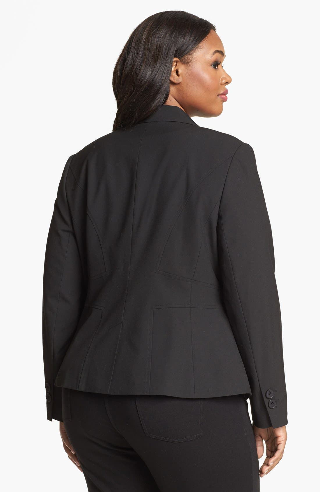 Alternate Image 2  - Sejour 'Ela' Seamed Jacket (Plus Size)