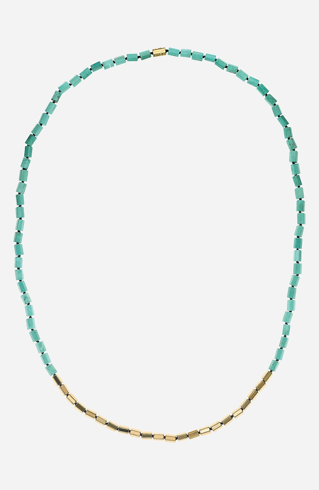 Main Image - Michael Kors 'Seaside Luxe' Long Stone Beaded Necklace