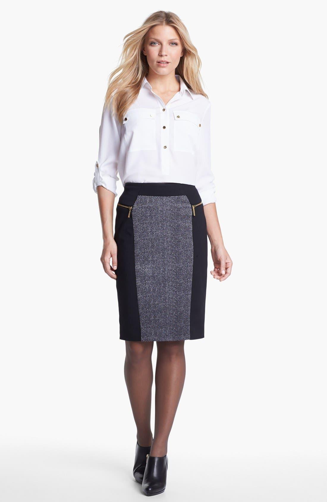 Alternate Image 1 Selected - MICHAEL Michael Kors Blouse & Skirt