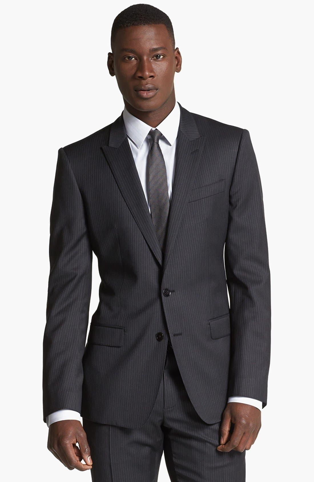 Alternate Image 4  - Dolce&Gabbana 'Martini' Pinstripe Wool Suit