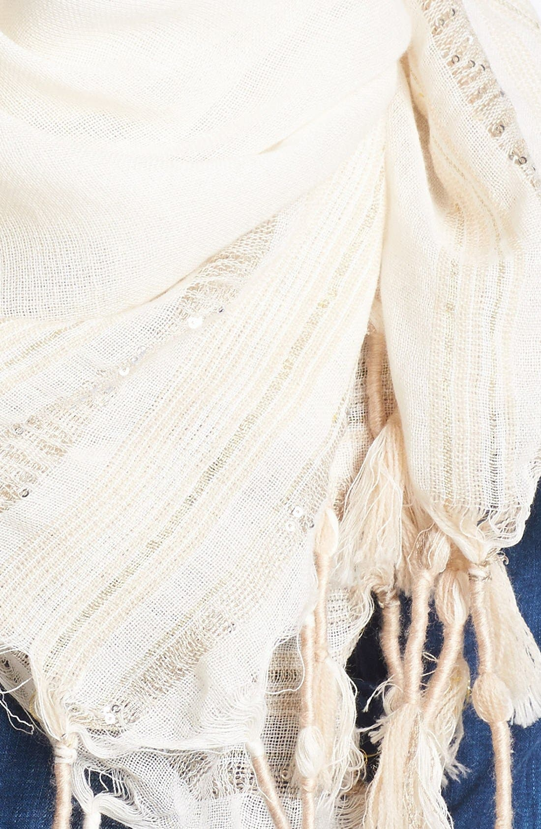 Alternate Image 2  - Vince Camuto Sequin Stripe Scarf