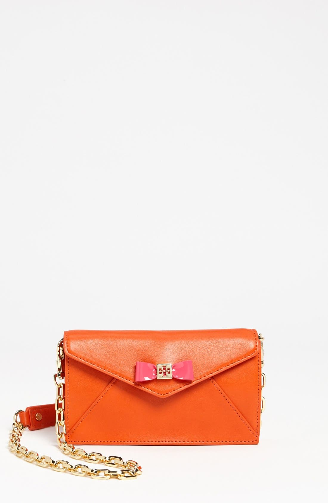 Alternate Image 1 Selected - Tory Burch 'Bow Envelope - Mini' Crossbody Bag