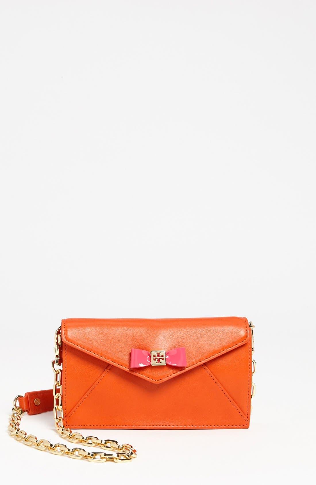 Main Image - Tory Burch 'Bow Envelope - Mini' Crossbody Bag