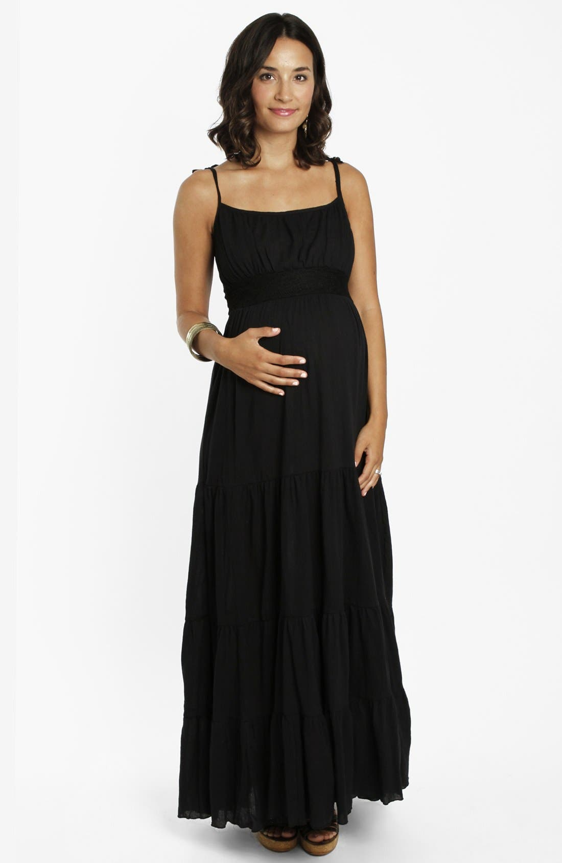 Alternate Image 1 Selected - Everly Grey 'Poppy' Tiered Maternity Maxi Dress
