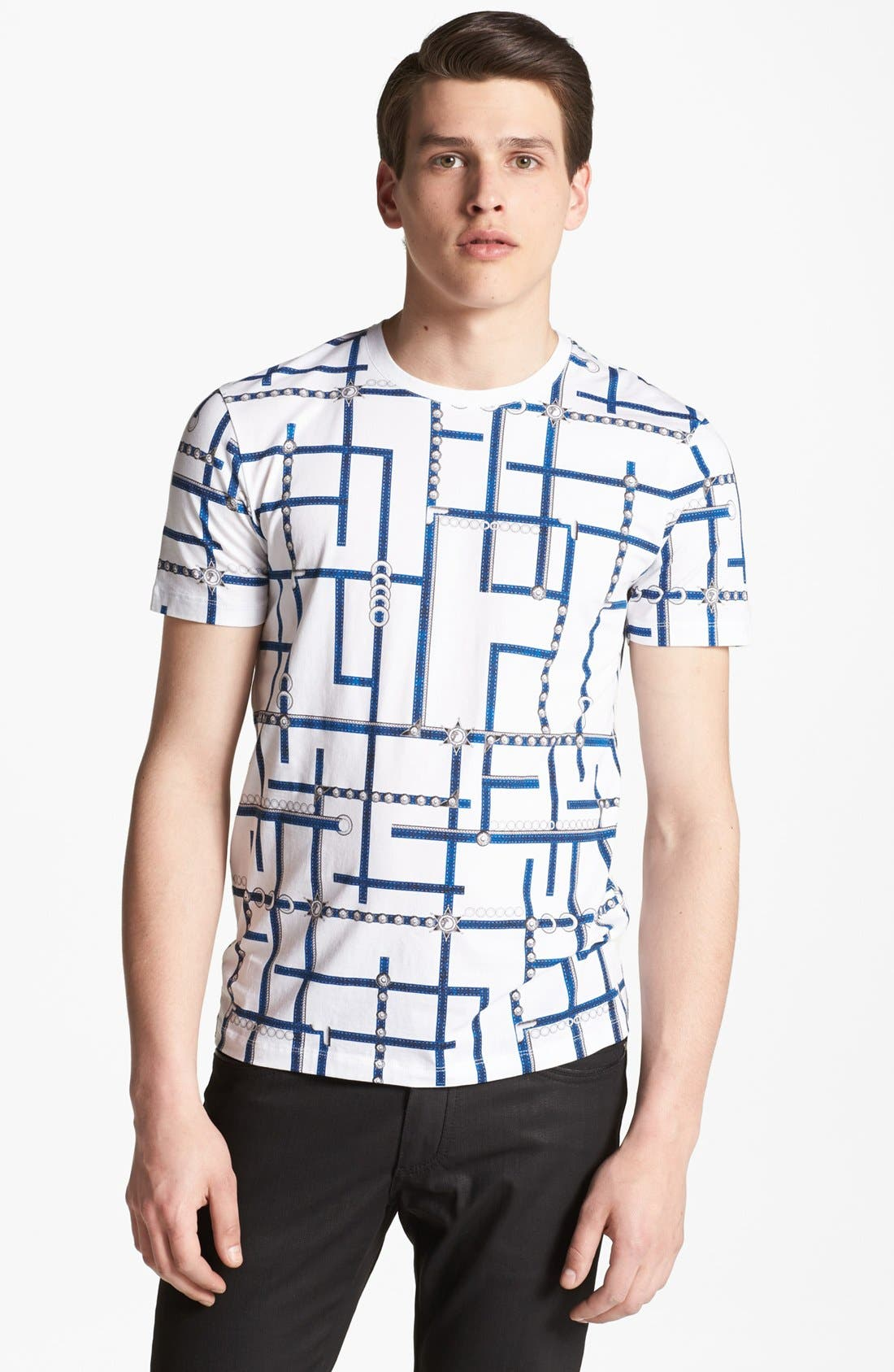 Alternate Image 1 Selected - Versace Allover Graphic Crewneck T-Shirt