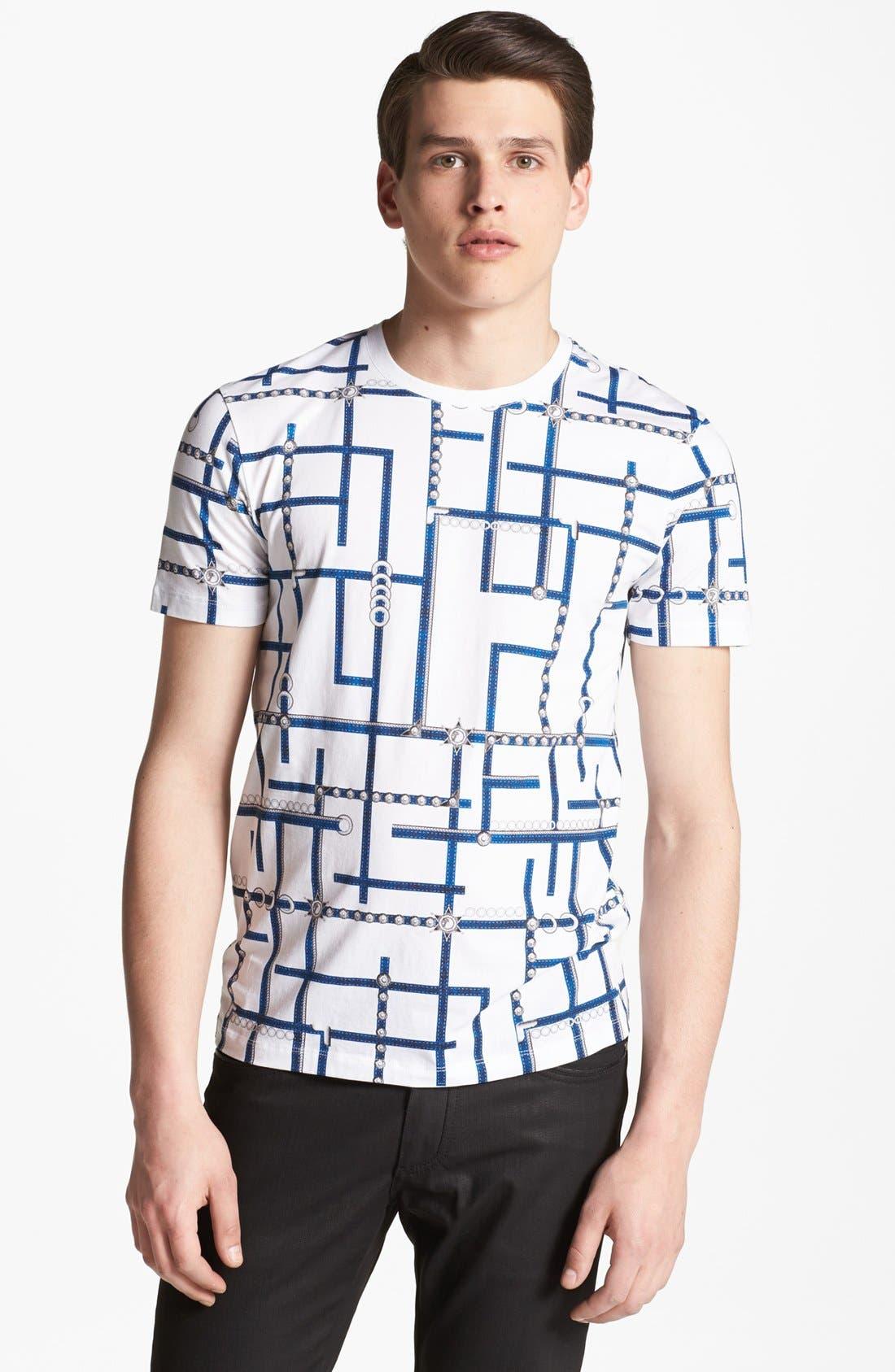 Main Image - Versace Allover Graphic Crewneck T-Shirt
