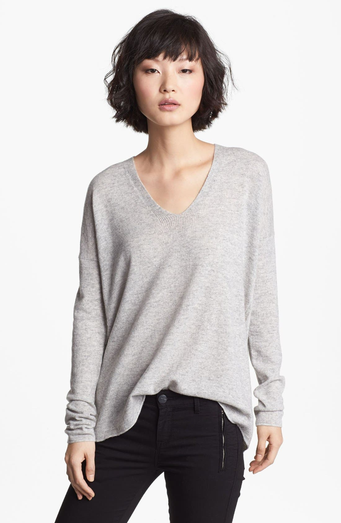 Alternate Image 1 Selected - Vince V-Neck Cashmere Sweater