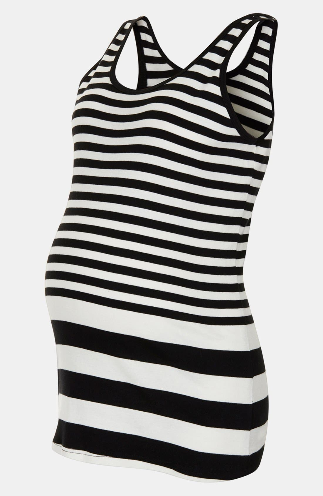 Alternate Image 3  - Topshop Stripe Cotton Maternity Tank