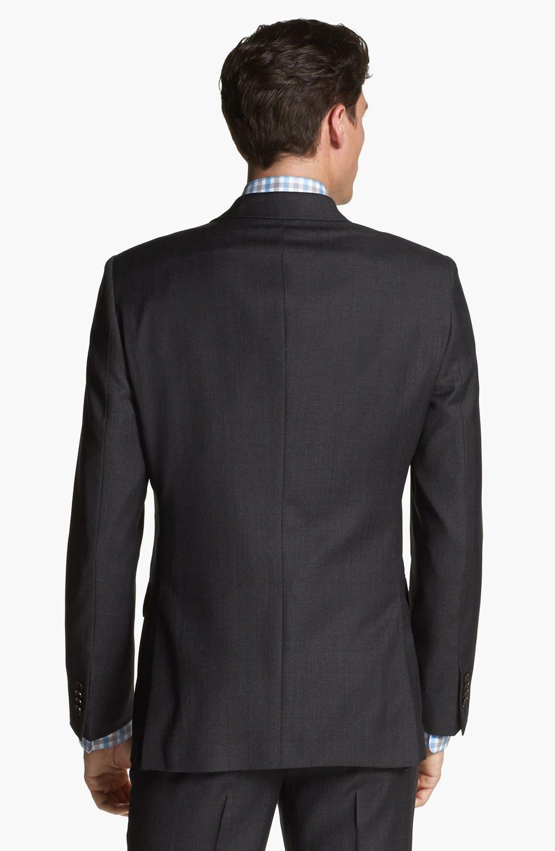 Alternate Image 7  - John Varvatos Star USA 'Townshend' Trim Fit Three Piece Suit