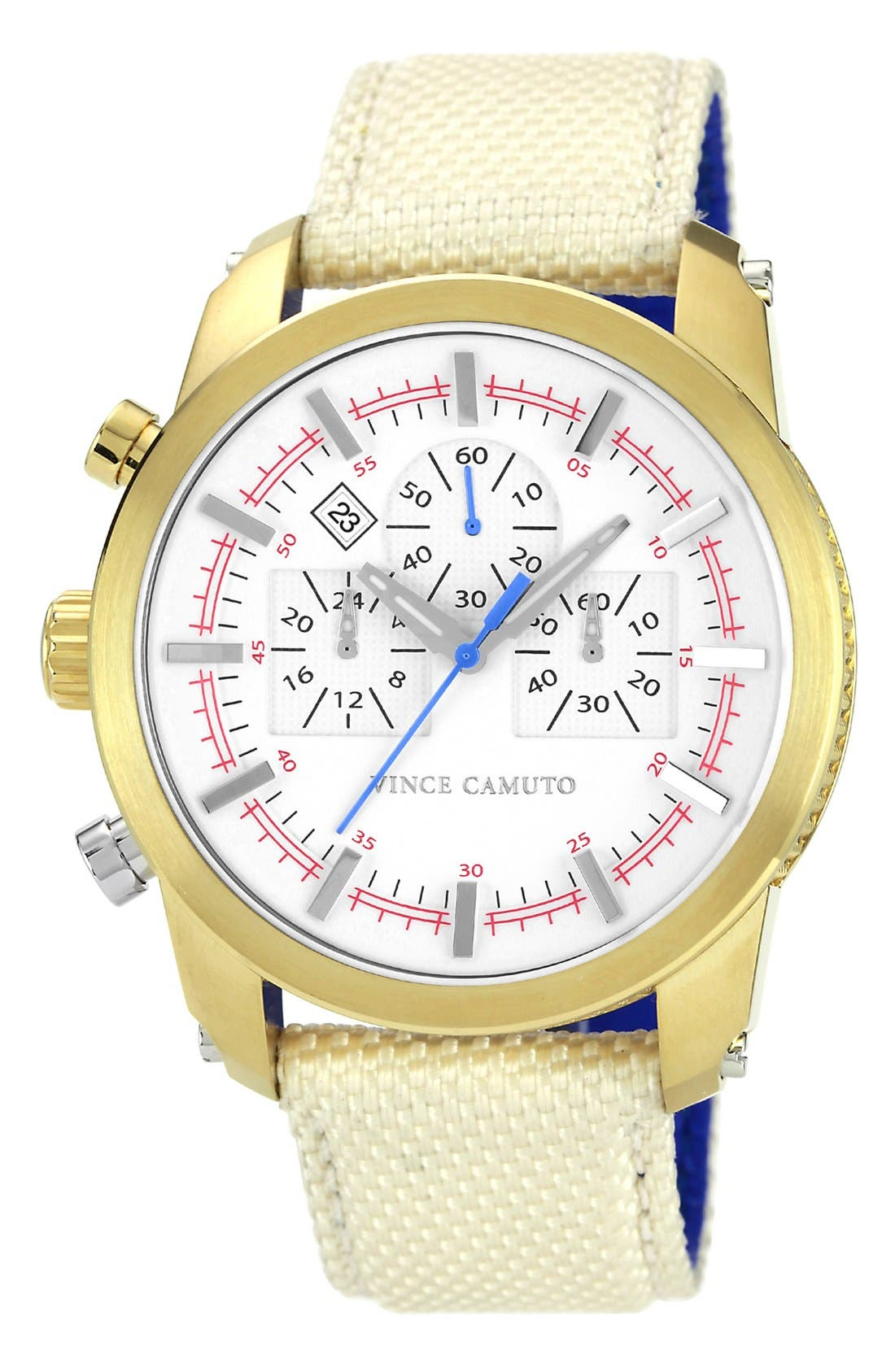 Main Image - Vince Camuto Round Chronograph Watch, 46mm