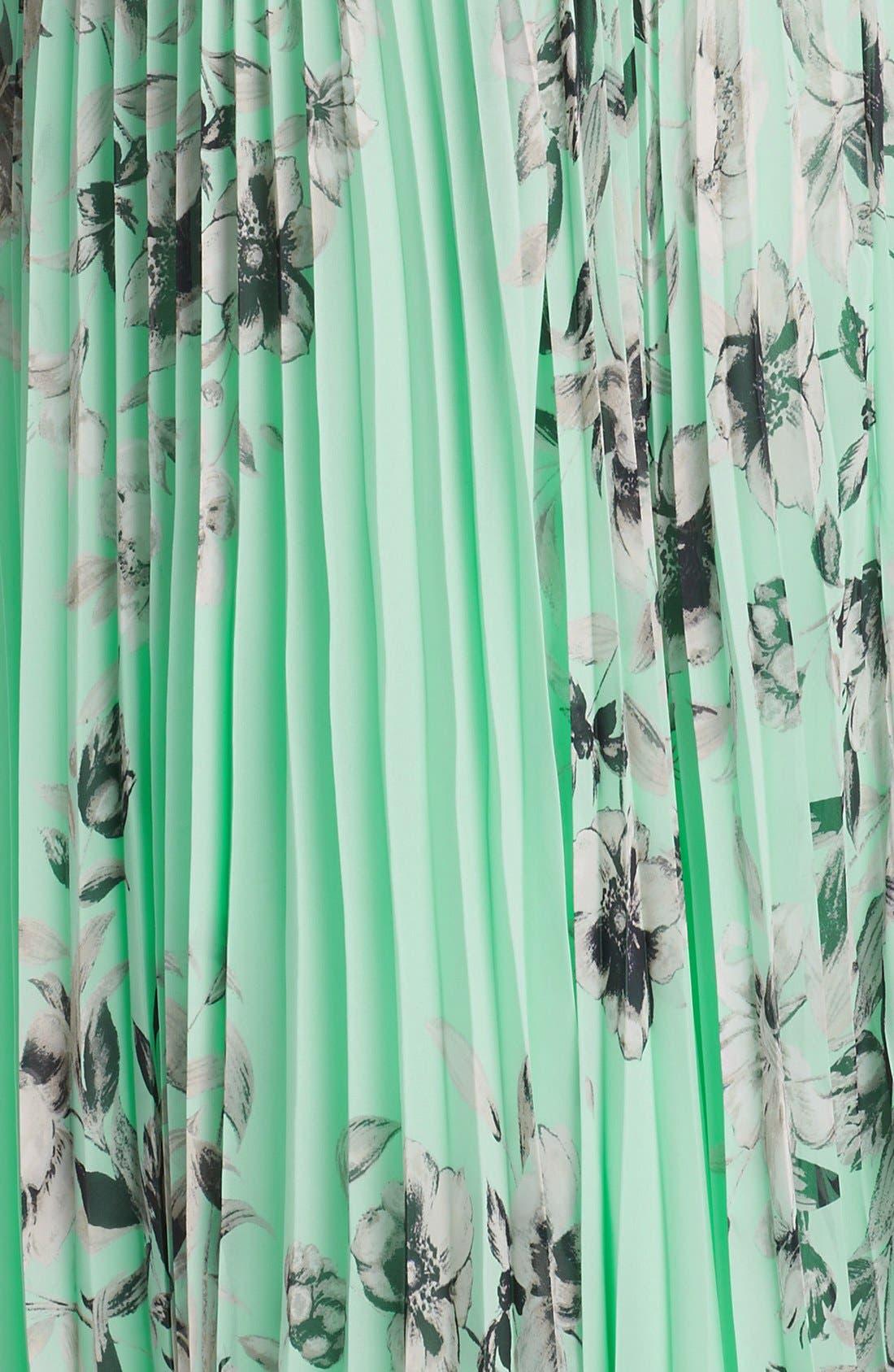 Alternate Image 3  - Eliza J Floral Sleeveless Print Chiffon Maxi Dress (Plus Size)