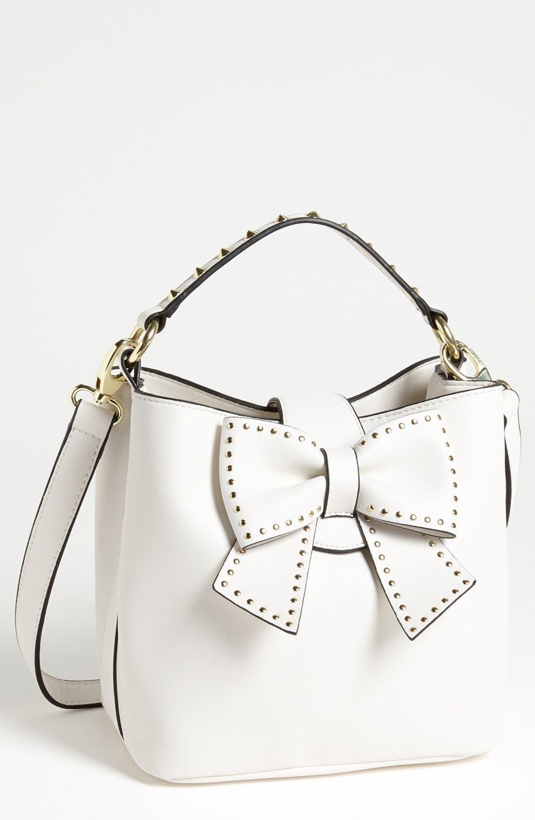 Alternate Image 1 Selected - Betsey Johnson 'Hopeless Romantic' Faux Leather Shoulder Bag