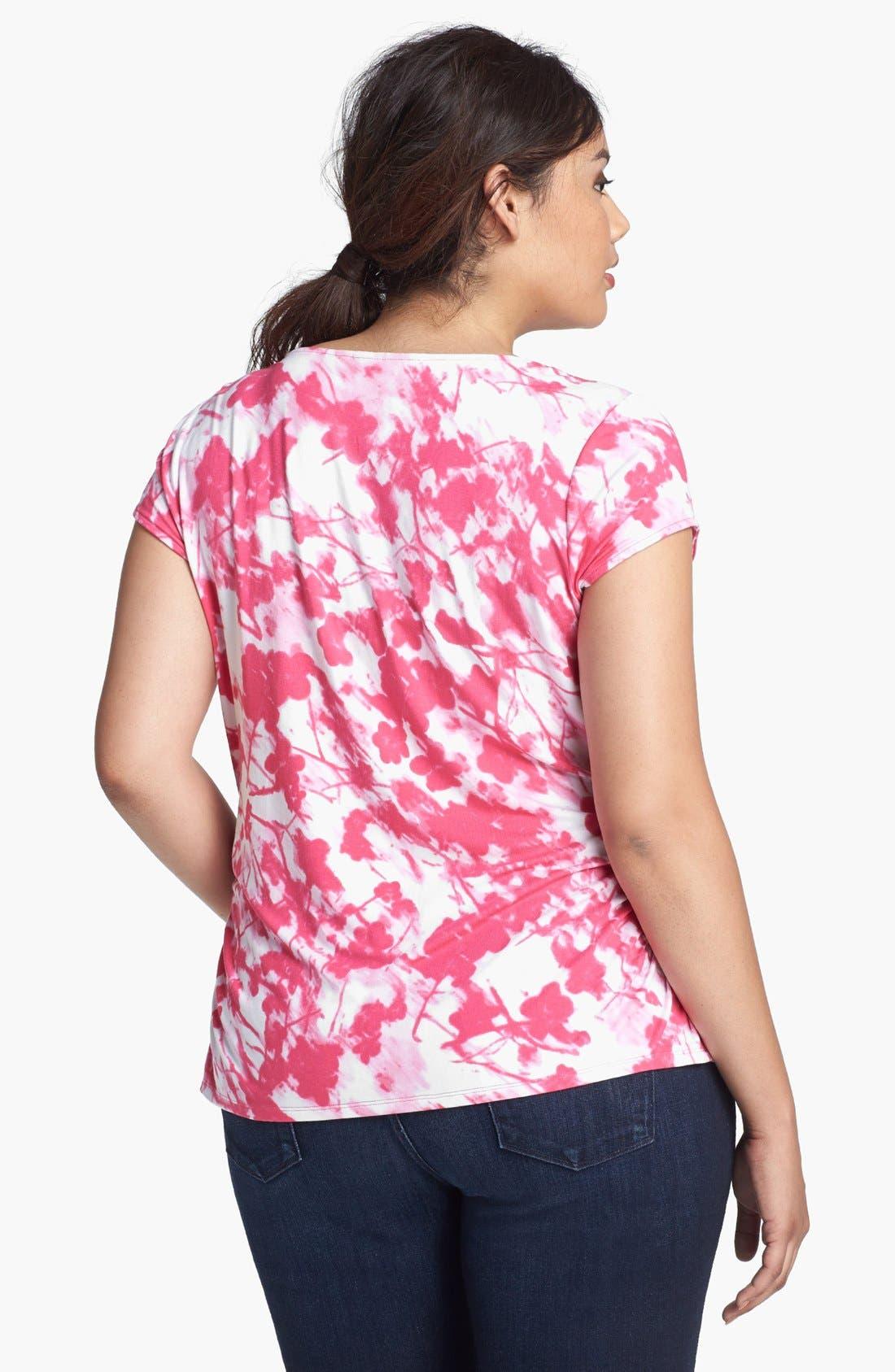 Alternate Image 2  - Sejour Drape Neck Top (Plus Size)