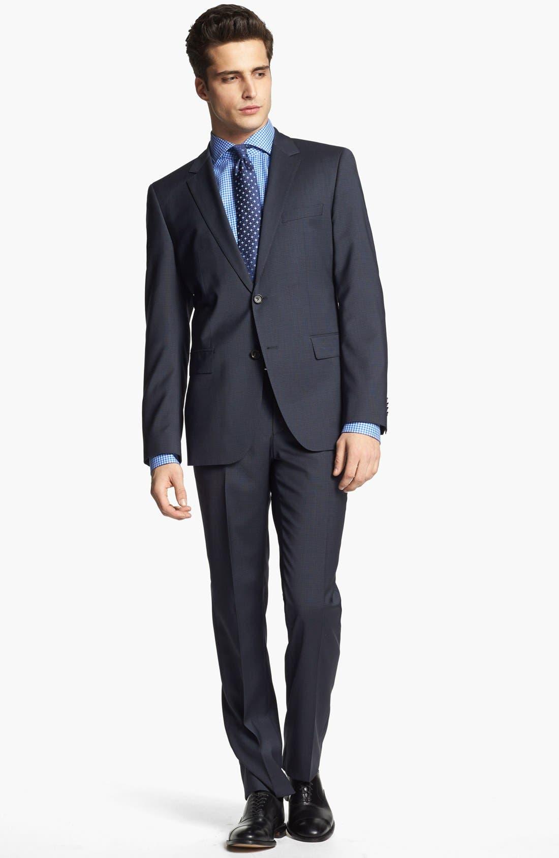 Main Image - BOSS HUGO BOSS 'James/Sharp' Trim Fit Check Suit