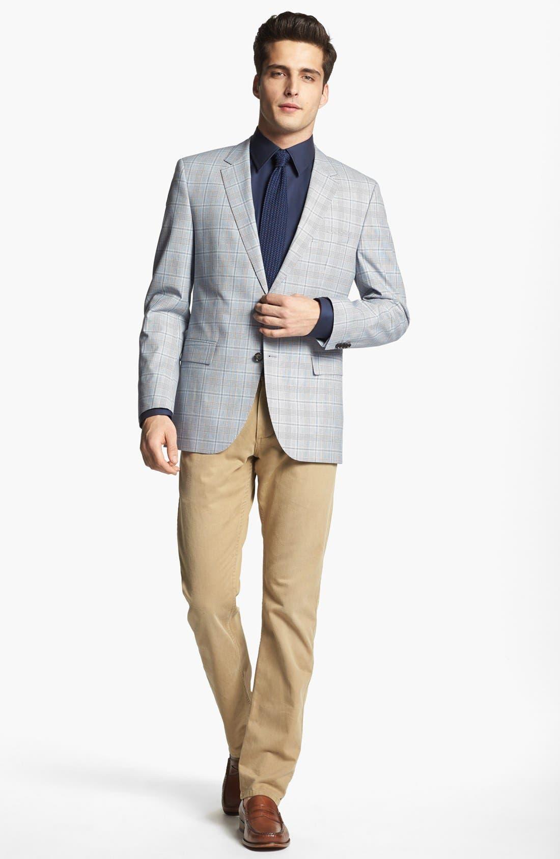Alternate Image 4  - BOSS HUGO BOSS 'James' Trim Fit Plaid Sportcoat