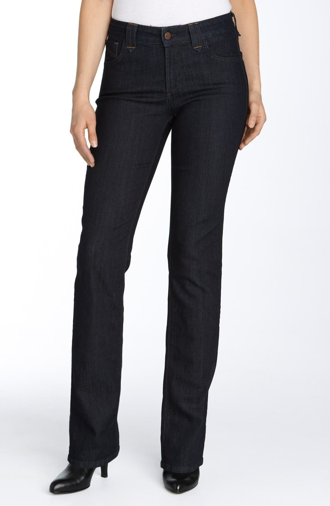 Alternate Image 1 Selected - NYDJ 'Marilyn' Stretch Straight Leg Jeans (Petite)