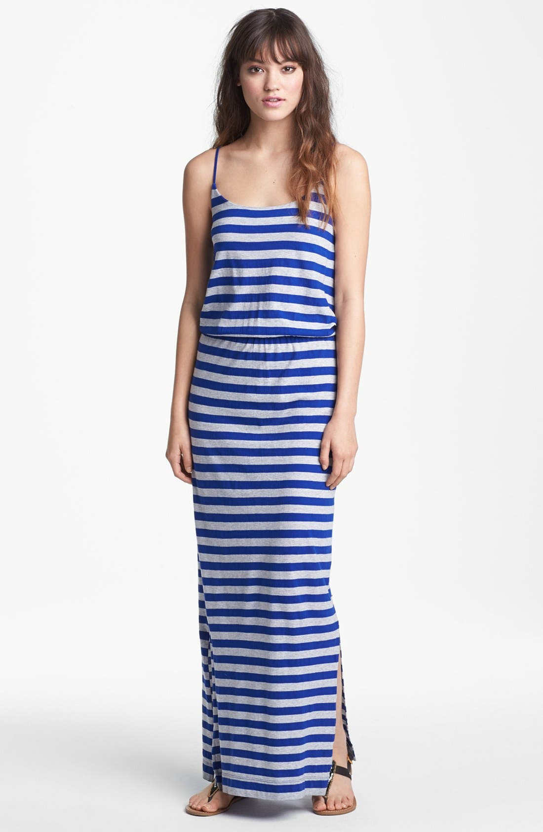 Alternate Image 1 Selected - French Connection 'Totem' Stripe Jersey Maxi Dress