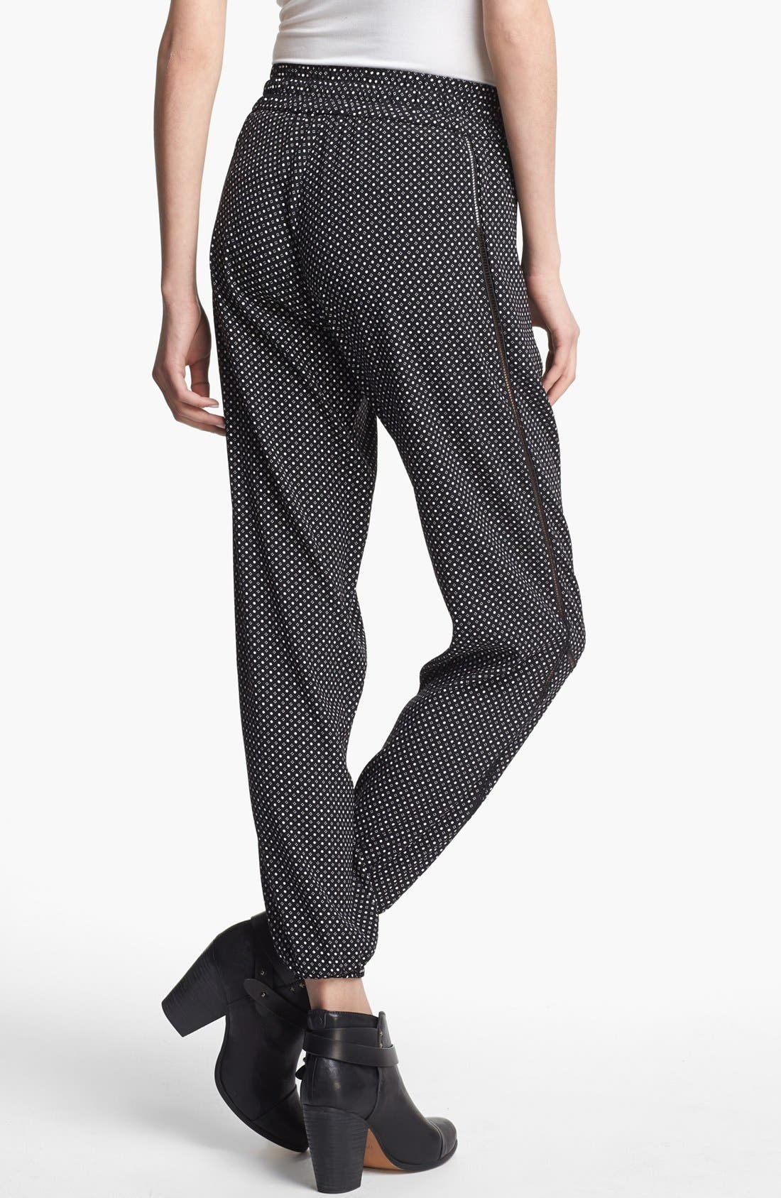 Alternate Image 2  - rag & bone 'Gina' Silk Track Pants