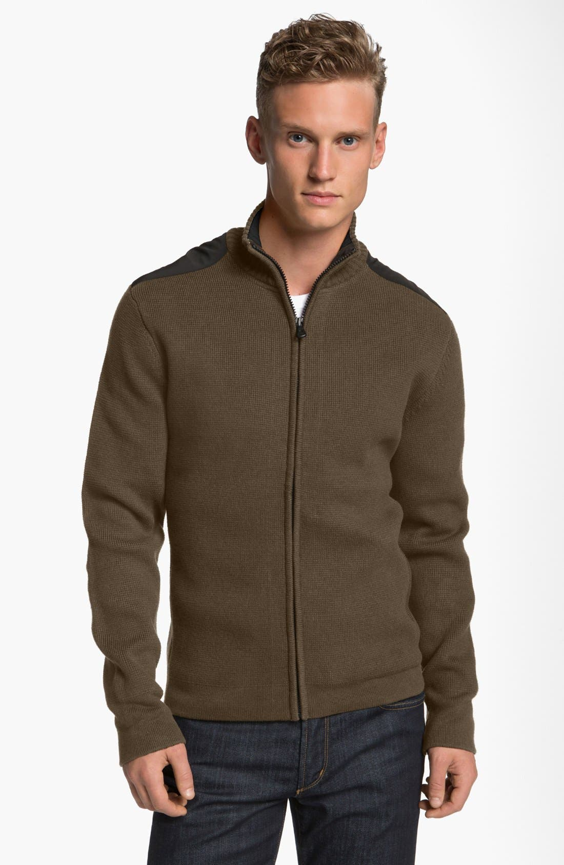 Alternate Image 1 Selected - Victorinox Swiss Army® 'Mahale' Full Zip Cardigan