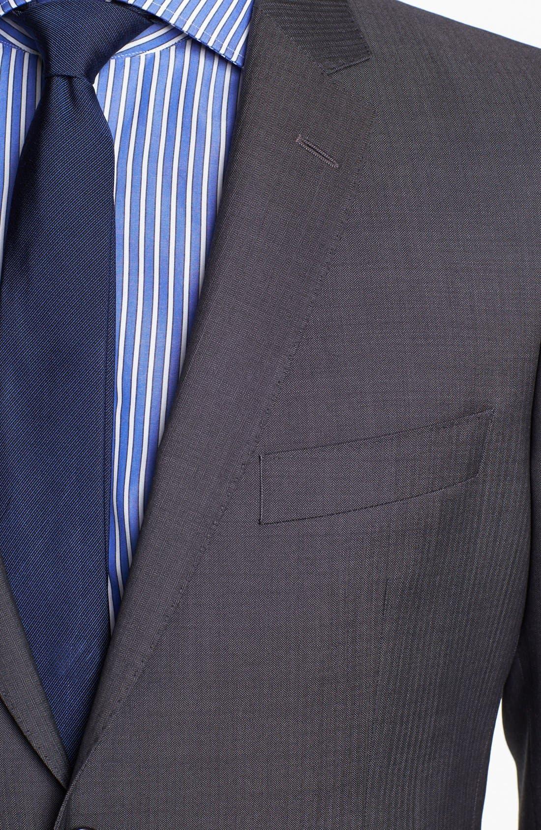 Alternate Image 2  - BOSS HUGO BOSS 'Edison/Power' Classic Fit Wool Suit