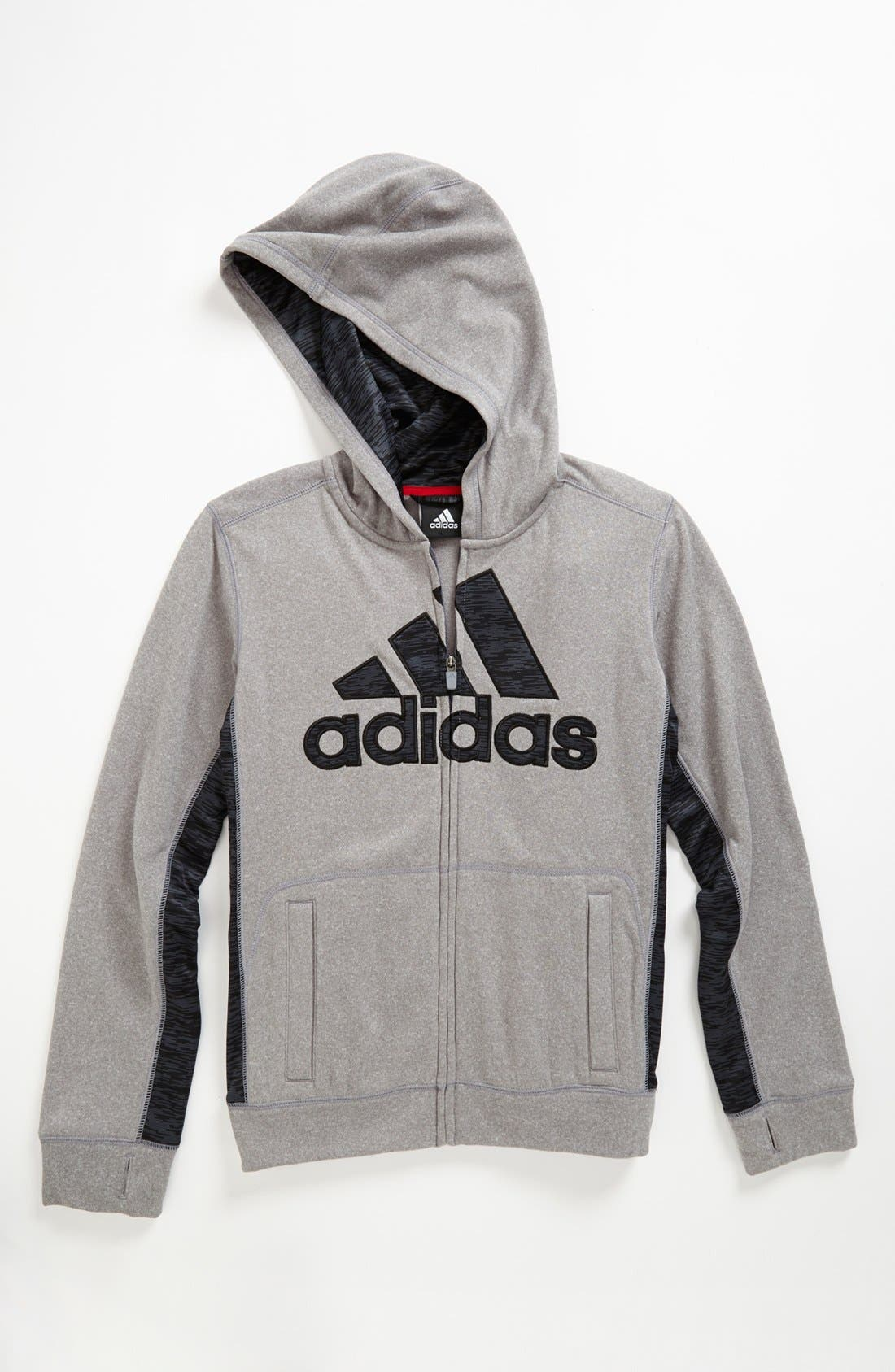 Alternate Image 1 Selected - adidas 'Ultimate' Hoodie (Big Boys)