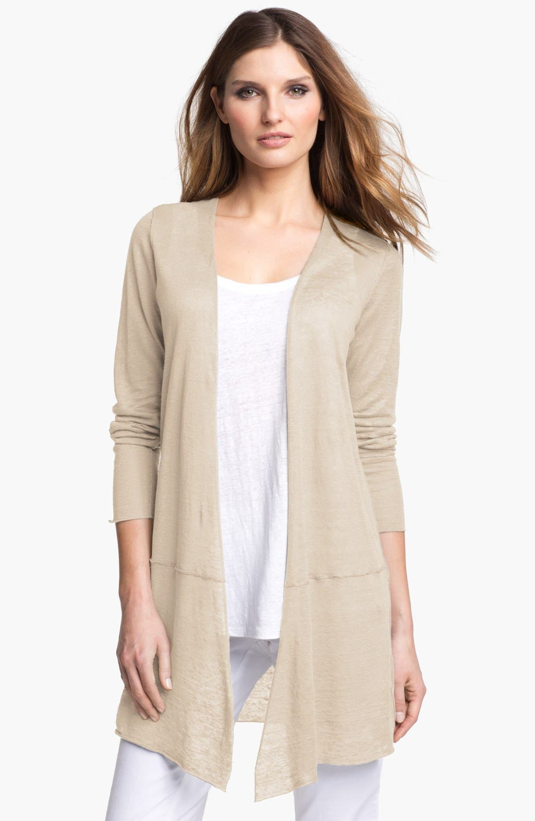 Alternate Image 1 Selected - Eileen Fisher Long Linen Cardigan
