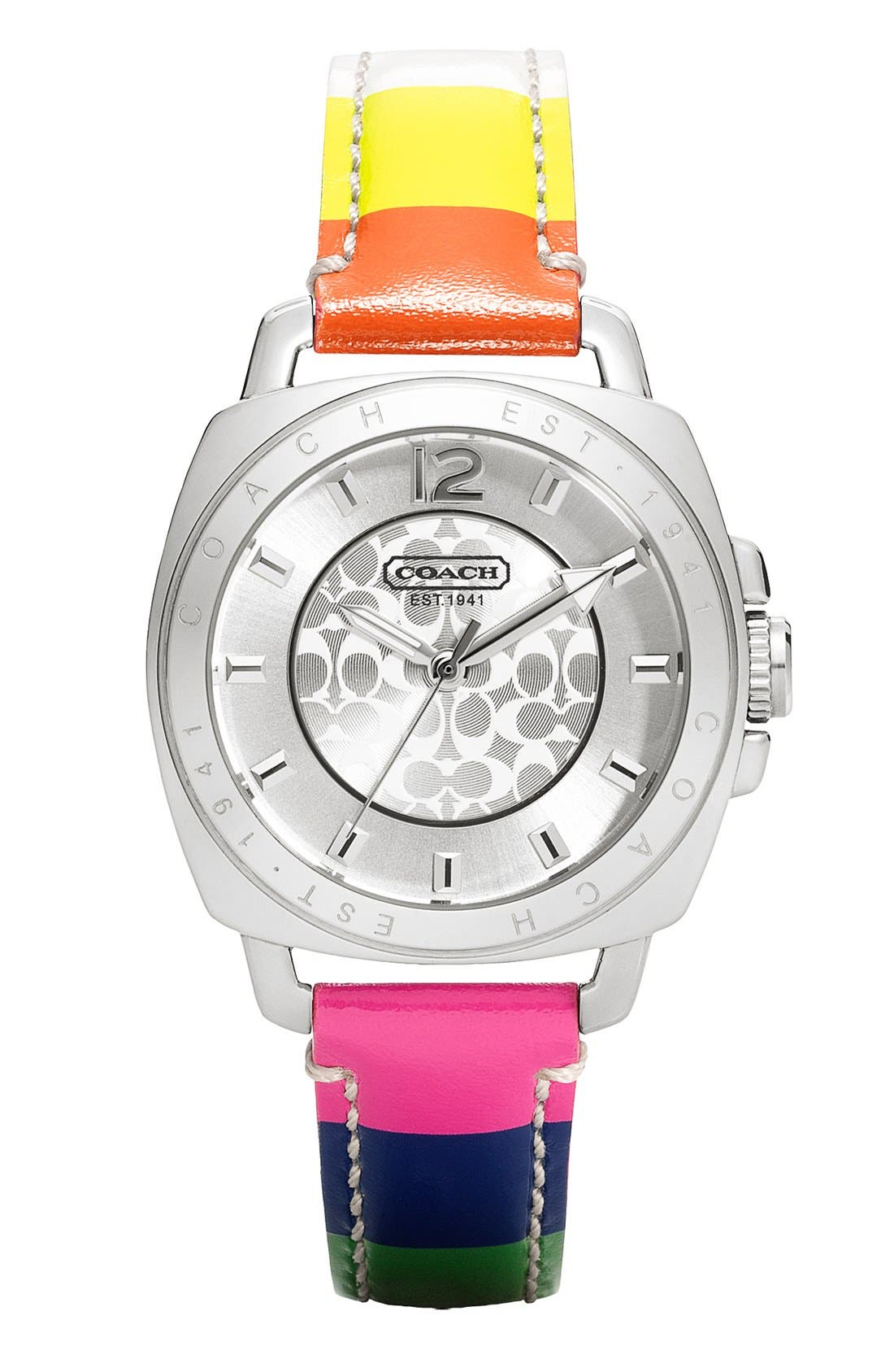 Alternate Image 1 Selected - COACH 'Boyfriend' Leather Strap Watch, 35mm