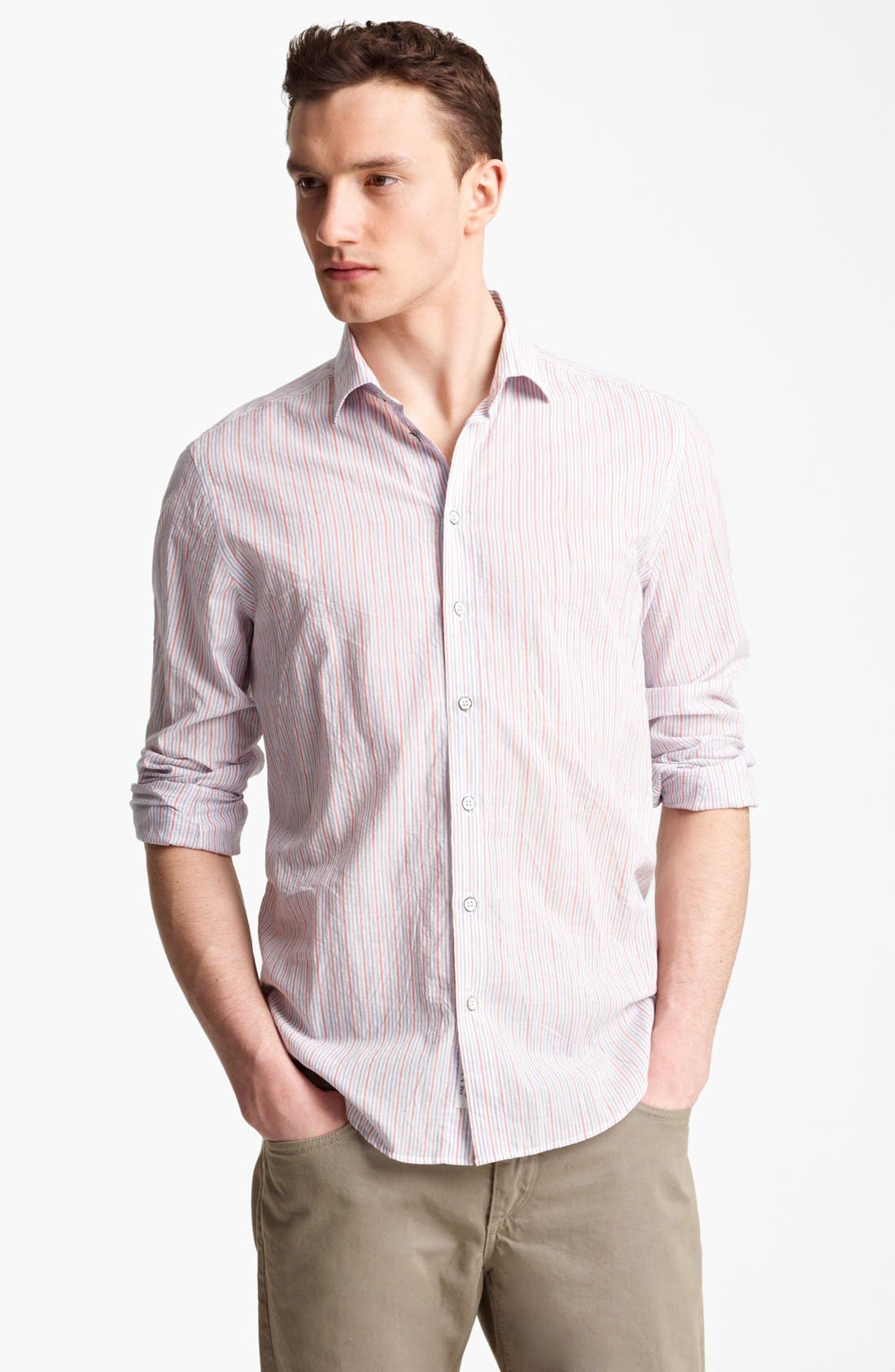 Alternate Image 1 Selected - rag & bone 'Charles' Stripe Woven Shirt