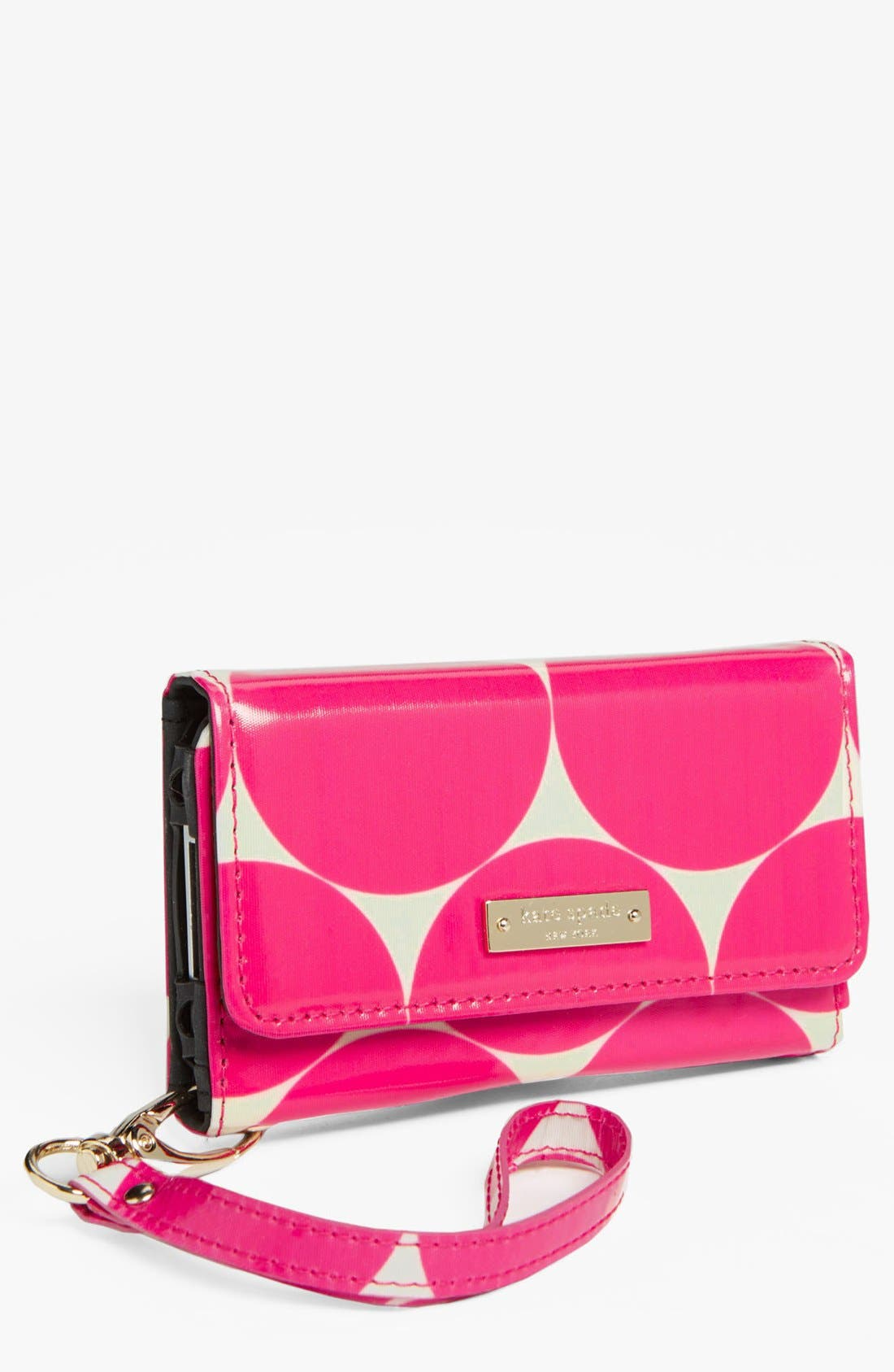 Main Image - kate spade new york 'deborah dot' iPhone 5 & 5S wristlet