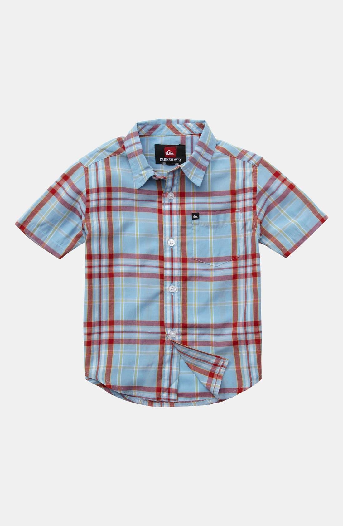 Main Image - Quiksilver 'Uncle Pat' Plaid Shirt (Baby Boys)
