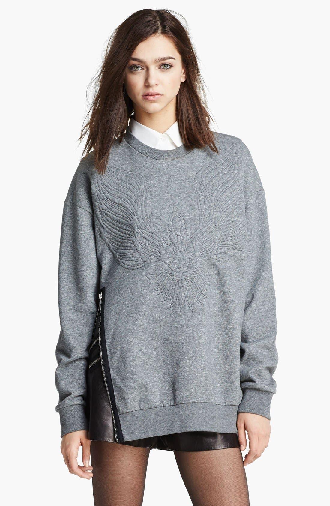 Alternate Image 1 Selected - 3.1 Phillip Lim Quilted Phoenix Oversized Sweatshirt