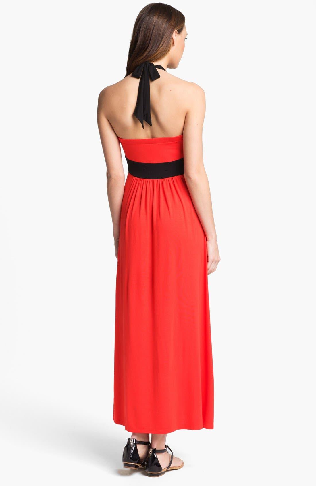 Alternate Image 2  - Calvin Klein Empire Waist Maxi Dress