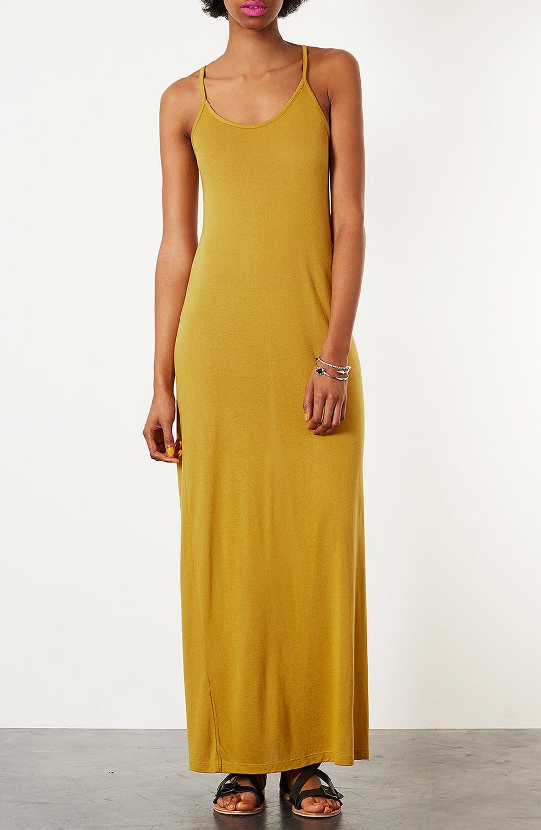Alternate Image 1 Selected - Topshop Cami Strap Maxi Dress