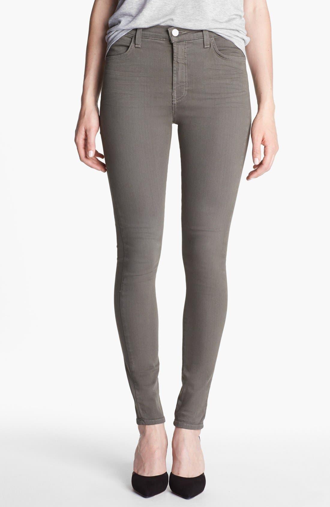 Main Image - J Brand 'Maria' High Waist Skinny Stretch Jeans (Washed Mantis)