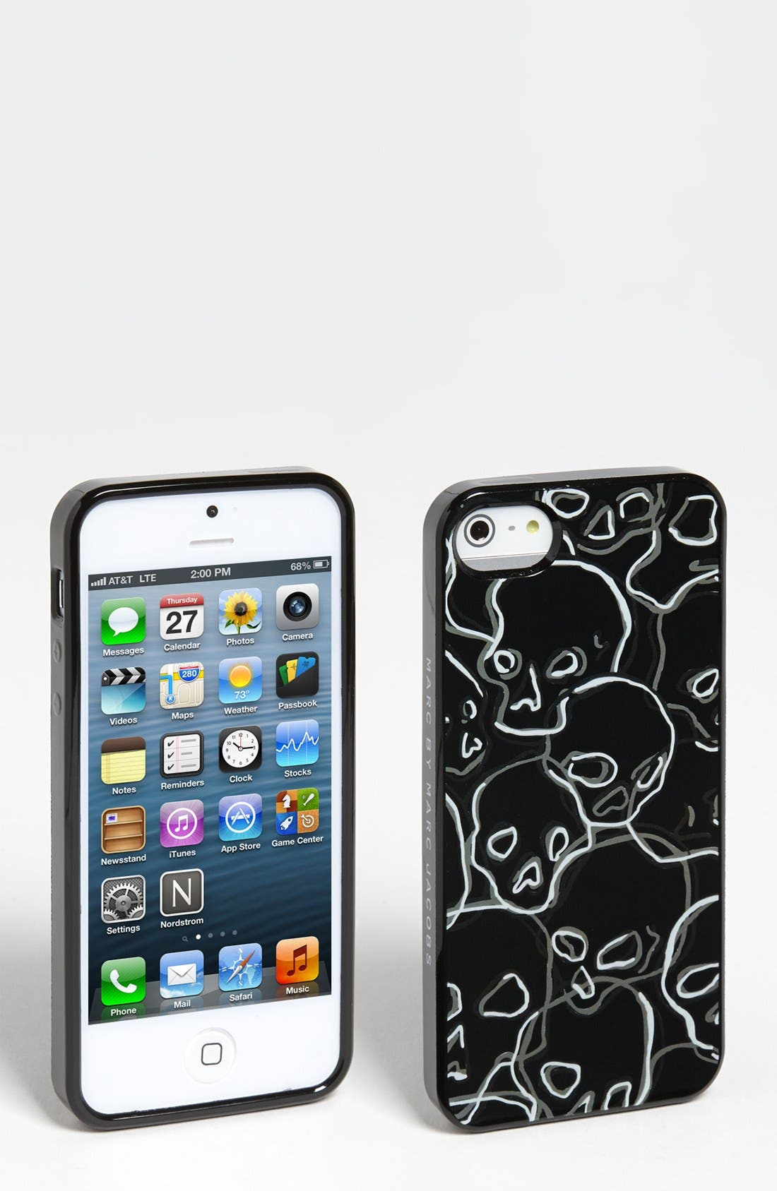 Alternate Image 1 Selected - MARC BY MARC JACOBS 'Neon Skulls' iPhone 5 & 5S Case