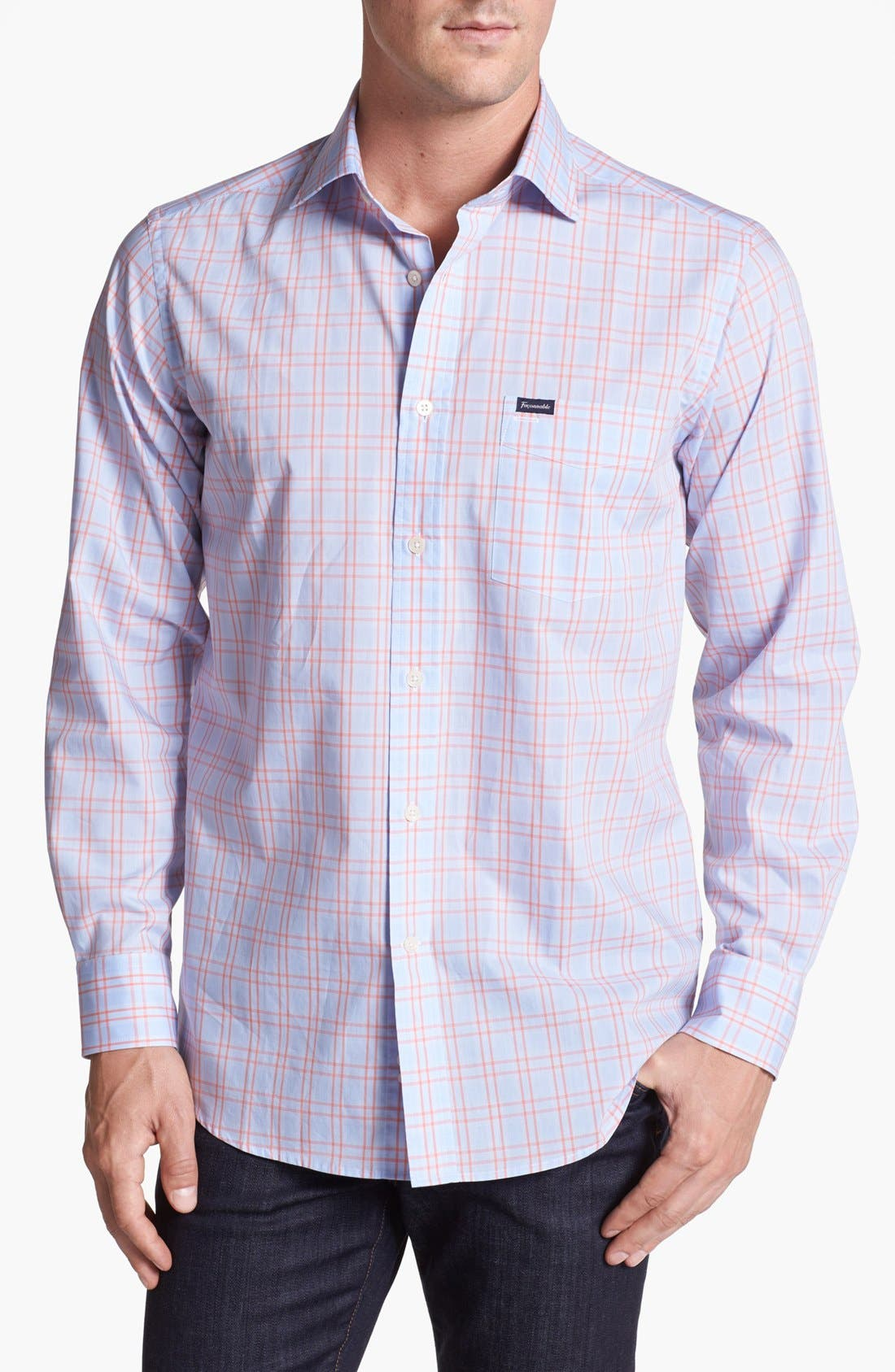Alternate Image 1 Selected - Façonnable Club Fit Window Plaid Sport Shirt