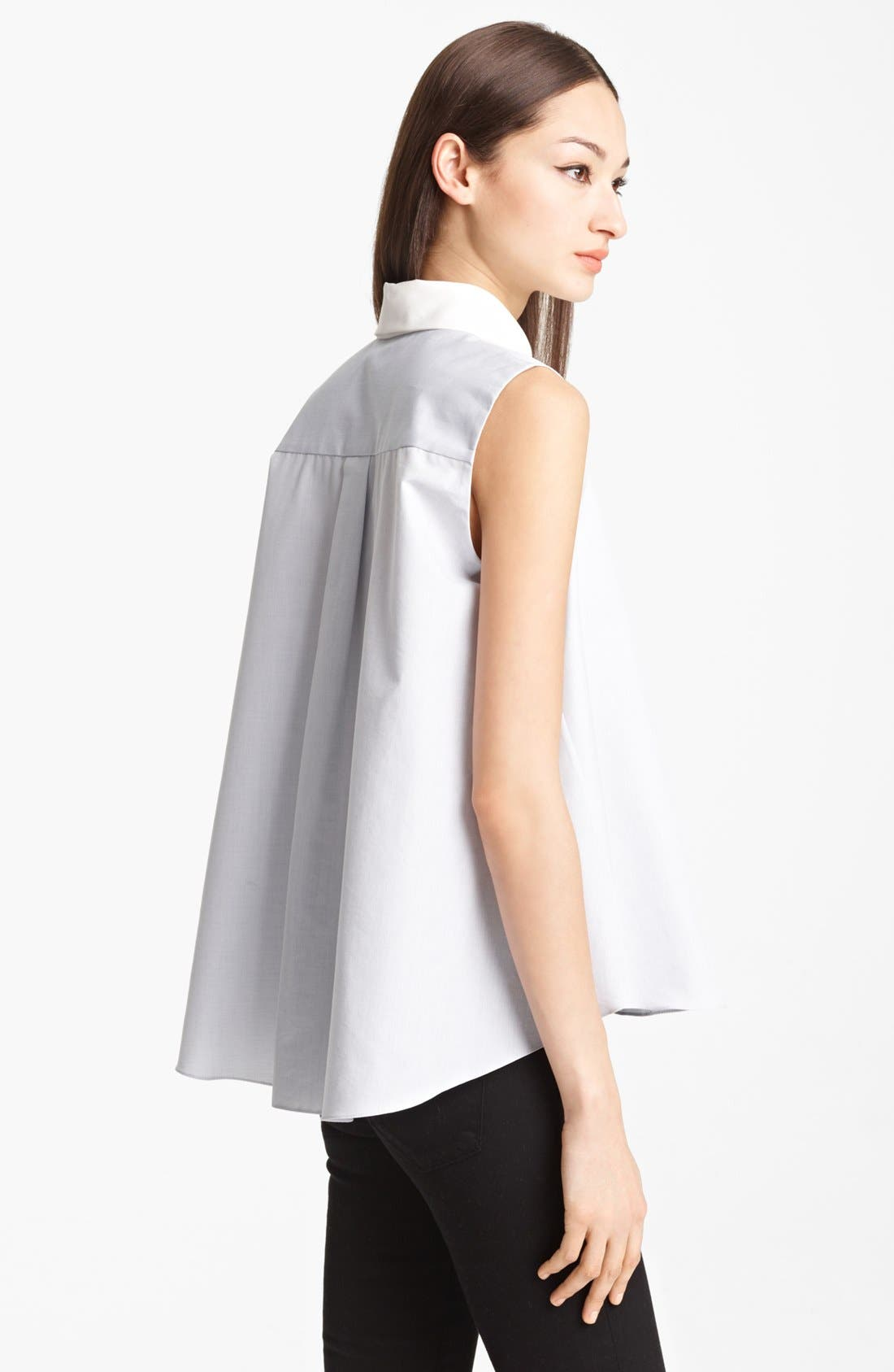 Alternate Image 2  - Thakoon Sleeveless Cotton & Silk Shirt