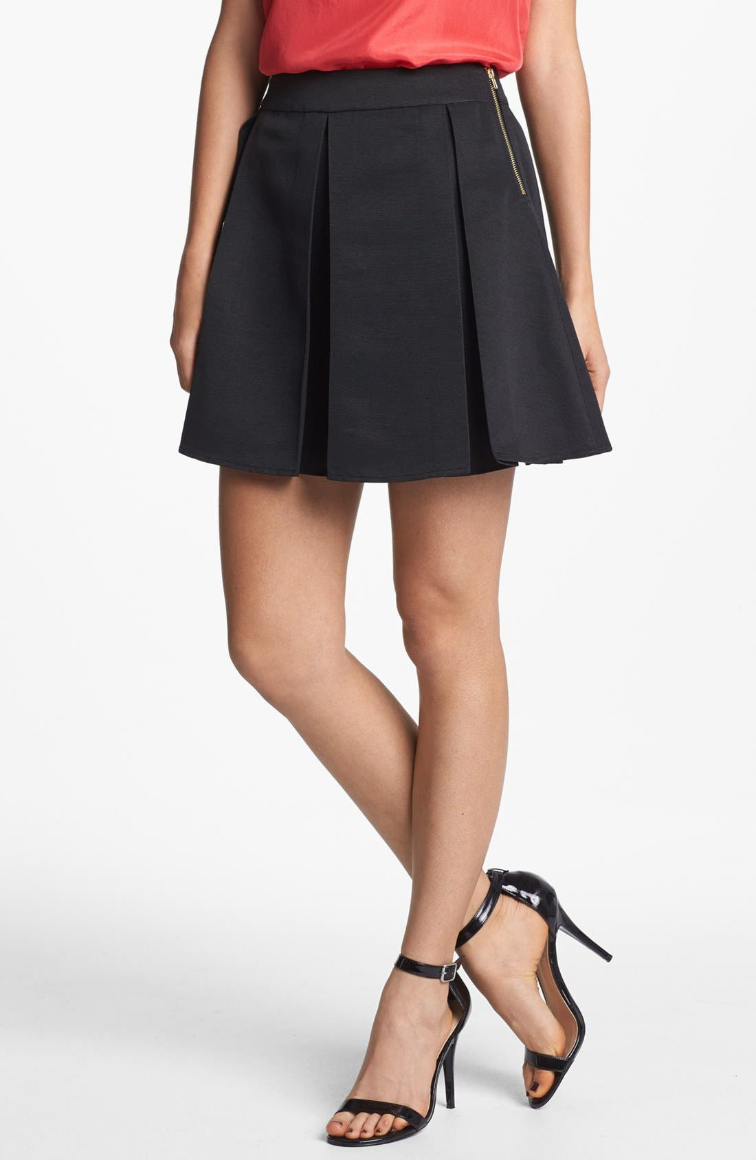 Main Image - Collective Concepts Pleated Skirt